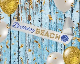 WHITE SASH Birthday Beach