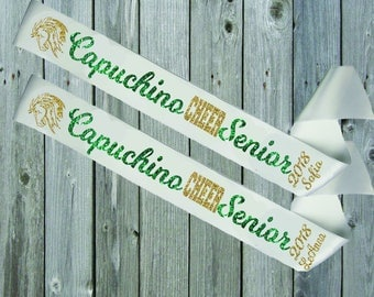 WHITE SASH Mascot Senior Cheer