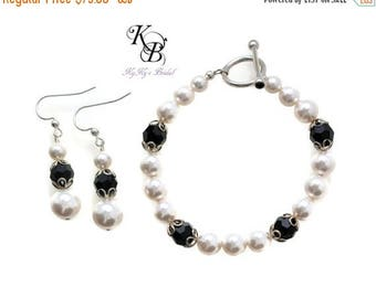 Black and White Jewelry, Formal Jewelry, Black Tie Wedding, Black and White Wedding, Bridal Jewelry, Pearl Bridal Jewelry, Wedding Jewelry