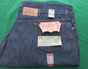 """Vintage Levi's 501 Jeans New Old Stock Store Display Size 58"""" x 34"""""""