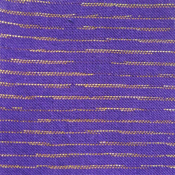 Metallic Chambray in Violet, Purple Fabric, Metallic Fabric, Chambray, Chambray Fabric, Metallic Stripe, Purple Metallic Fabric