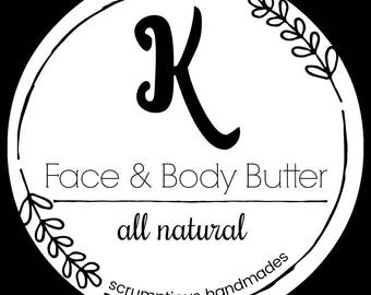 Personalized Face and Body Butter, bridesmaid gift