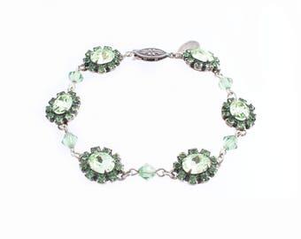Liz Paiacios Green Rhinestone Bracelet