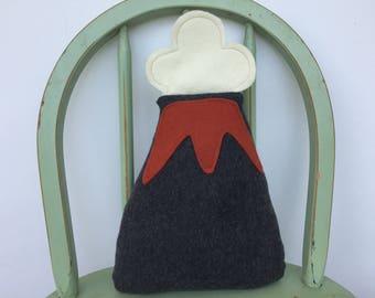 Plush Handmade Fleece Volcano Toy