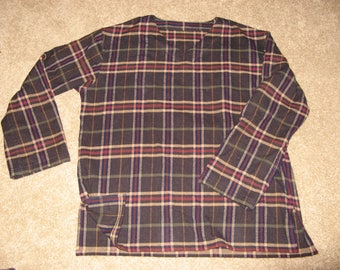 Men's Pajamas--MADE to ORDER--Flannel or Cotton, Size L-XL, Free U.S.A. Shipping