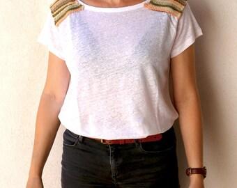 T-shirt in organic linen