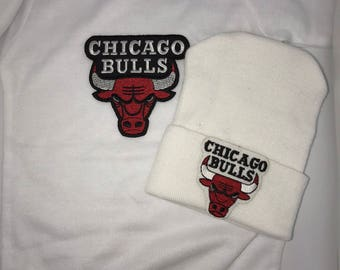 Bodysuit with Newborn Hospital Hat. Chicago Bulls 1st Keepsake! GREaT GiFT! 1st Keepsake!