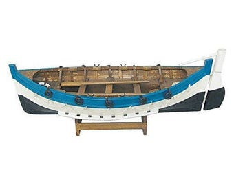 Boat model - boat with paddles made of wood 44 cm