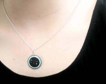 Gemini pendant, Gemini star sign necklace, June birthday pendant, Gift for June, Present for Gemini, Constellation jewellery for Gemini