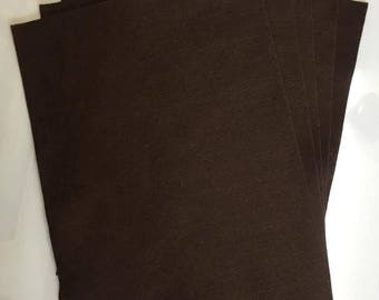5x Brown Felt Sheets