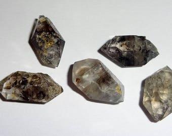 5pc Set #1 Raw Herkimer Diamonds Natural Crystal Healing Gemstone Rough Stones Specimen