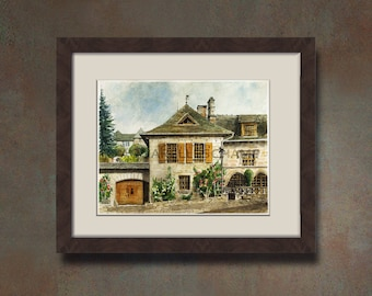 Watercolor of your home - House of Corrèze