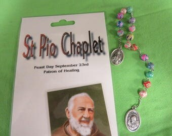 St. Pio Chaplet w/Instructions