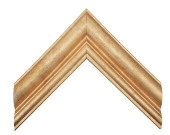 "2"" Gold Buff Traditional Picture Frame Sizes: 4x6 5x7 8x10 11x14 12x16 16x20 20x24 24x36 + Custom Sizes"