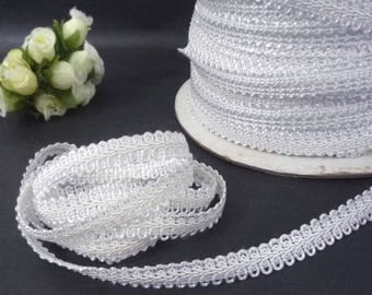 10 yds - 200 yds Soft hand feel and thin Vintage White Rayon Ric Rac Ribbon Gimp Trim Craft Supply 3/8 inch 10mm width /  thickness 1mm L681