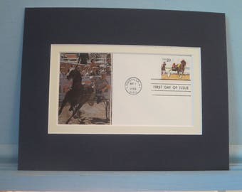 Harness Racing and  the First Day Cover of the stamp honoring Harness Racing
