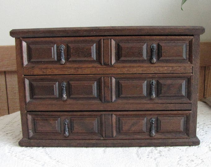 Wood Jewelry Box Vintage Accessories and Jewelry Mele Utica New York Wooden Boxes and Storage