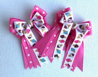 SHORTY Horse Show Hair Bow - Pink Ice Cream Cones