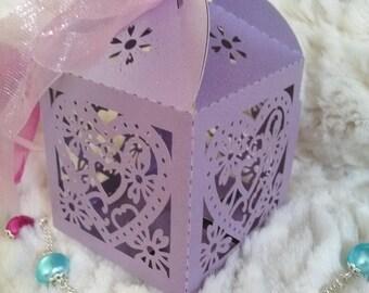 Shiny purple gift box.