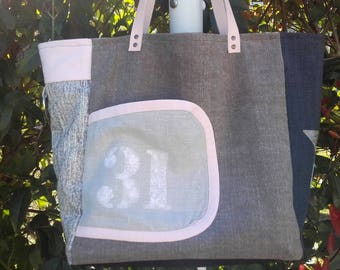 Model large tote bag - handheld No. 31