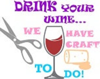 Wine Crafting Cuttable Design - SVG - Instant Download