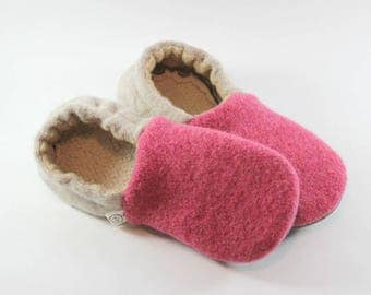 Classroom Shoes- Back to School- Gift for Girl- Felted Wool Slippers- Kids Pajamas- Gift for Daughter- Kids Slippers- Waldorf Education