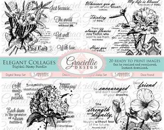 15% OFF - Elegant Collages Digital Stamp Bundle