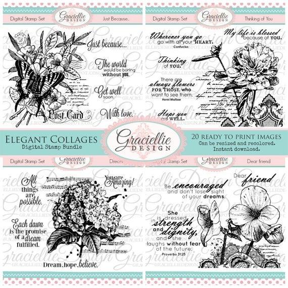 Graciellie Design Elegant Collage Bundle