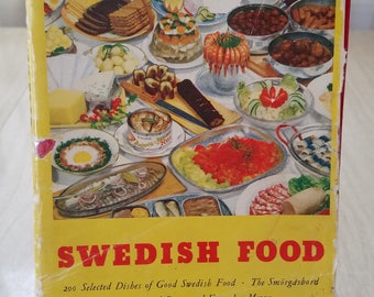 "Vintage Swedish Cookbook ""Swedish Food"" 1950"