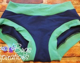 XXS-XXXL Blue & Mint Bunzies - super booty - custom underwear - cotton panties - Bunzies - Solid Bunzies - solid full coverage bunzies