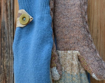 Mittens made from Upcycled Wool Sweaters