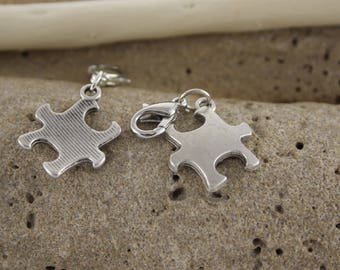 Charm silver plated puzzle charm