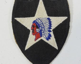 WWII Era US Army Second 2nd Infantry Division Insignia Patch