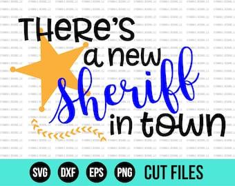 Baby SVG - SVG Files - New Baby SVG - Sheriff Svg - Baby Boy Svg - Cut Files - Cricut Files - Silhouette Files - Vinyl Designs