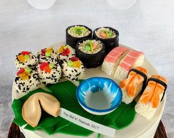 Fondant sushi edible cake topper/dessert sushi