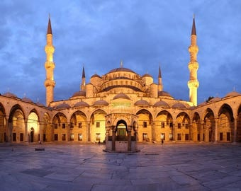 Laminated placemat Blue Mosque Istanbul Turkey