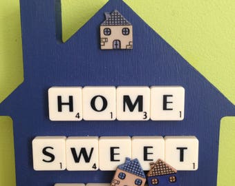 Freestanding  - Home Sweet Home Sign -  Home Sweet Home -Handmade - House Warming Gift - Unique Gift