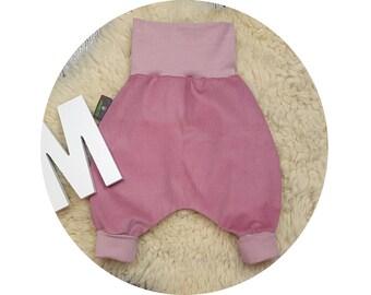 Corduroy pants, pants, baby pants, baby, Mitwachsen trousers, harem trousers, harem trousers