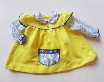 Vintage, Made in Canada girls dress/ top. Approx size 12 months