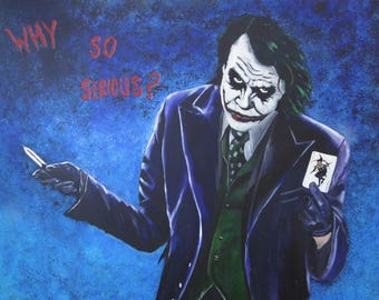 The Joker - Limited Edition Mounted A3 print of Heath Ledger