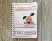 SALE!! Adorable Puppy Address Book - Spiral Bound