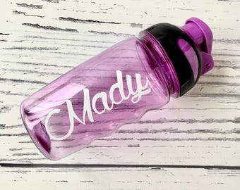 Personalized Platic Water Bottle, Personalized Kids Cup, Custom Kids Water Bottle, Party Favor for Children's Birthday, Kids Party Cups, Cup