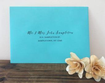 A7 Envelope Addressing + Envelope - Guest & Return Address Digital Calligraphy