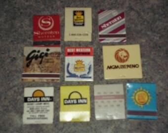 10 Vintage 80s Matchbooks