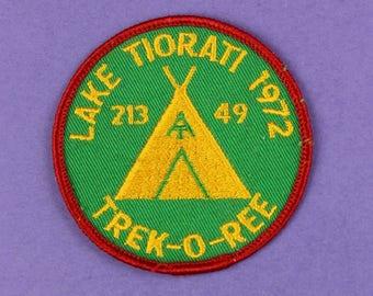 Lake Tiorati 1972 Trek-O-Ree Vintage Boy Scout Patch