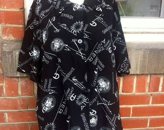 Unisex versace blouse large