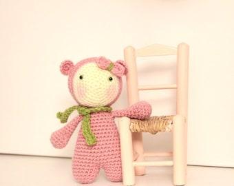 Amigurumi - Crochet - Teddy bear - OOAK doll