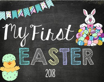 My First Easter Sign/Poster- Instant Download