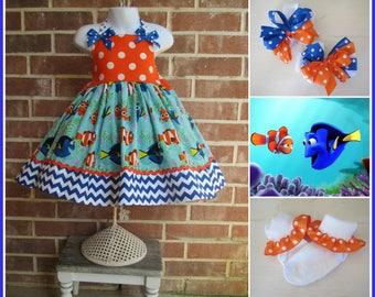 Finding Dory Dress, Nemo Dress, Dory Dress