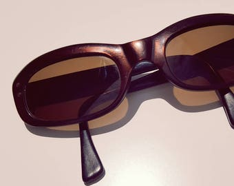 Vintage 1950s Brown Lucite Sunglasses
